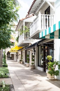 The Locals-Only Guide to Palm Beach via @MyDomaine - awnings setting the tone outside speciality boutiques