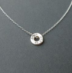 bullet casing necklace sterling silver