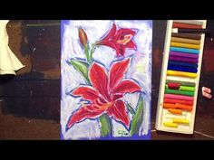 How to Draw an Oil Pastel Amaryllis Flower - YouTube
