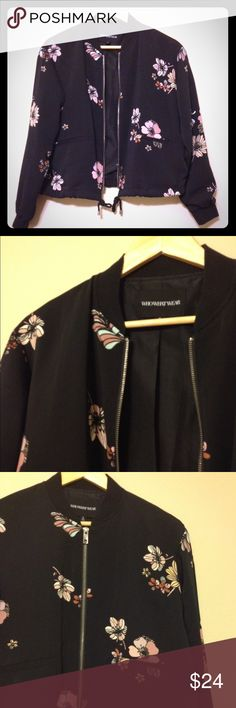 FLASH SALE! Who What Wear zippered jacket In flawless condition, with bomber jacket style neck and cuffs and drawstring waist. Two front pockets. By Who What Wear at Target. Who What Wear Jackets & Coats