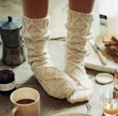 Cosy socks and warm cups of tea #LoveAutumn