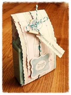 rosemary & peppermint handmade soap packaging | Flickr - Photo Sharing!