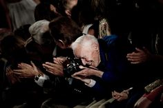 Bill Cunningham in action at DVF