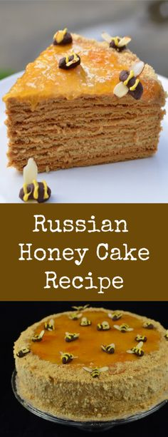 you have ever tried Russian Honey cake, you know how amazing it is.If you have ever tried Russian Honey cake, you know how amazing it is. Fun Desserts, Delicious Desserts, Yummy Food, Baking Recipes, Cake Recipes, Dessert Recipes, Russian Honey Cake, Russian Cakes, Brunch
