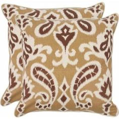 Safavieh Dylan Pillow, Multiple Colors, Set of 2, Brown