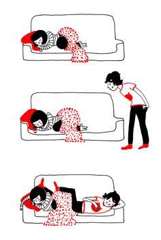 """Die """"Soppy Illustrations"""" von Philippa Rice fangen die Schönheit des Verliebtseins ein."""