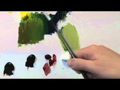 How To Mix Green Paint - YouTube