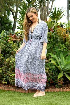 Bronwyn Grey & Pink Boho Maxi Dress  #fashion #fashionable #fashionista #fashionstyle #fashiondiaries #fashionblog #beachstyle #vacationstyle #beachfashion #plussize #plussizefashion #plussizes #plussized #everydaystyle #style #styles #stylediaries #styleinspiration #bondi #bondibeach #bondilifestyle #australianfashion #summerfashion #onlineshop #onlineshopping #onlineshops #summerscoming #summergirl #summerfun