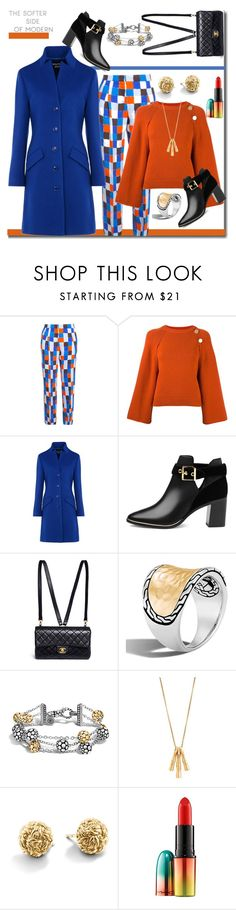 """The Softner Side Of Modern"" by helenaymangual ❤ liked on Polyvore featuring Emilio Pucci, Vanessa Bruno, Boutique Moschino, Ted Baker, Chanel, John Hardy, MAC Cosmetics and modern"