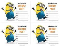 minion invitations free printable - Căutare Google