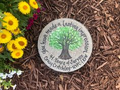 Painted Stepping Stones, Stepping Stone Pavers, Teacher Retirement Gifts, Teacher Gifts, Bride Gifts, Wedding Gifts, Employee Recognition, Bereavement Gift, Step By Step Painting