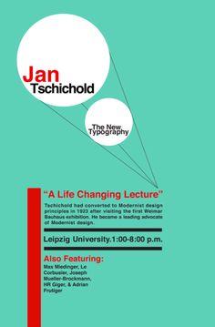 Jan Tschichold by Andrew Higgins, via Behance