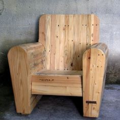 Handmade wooden Club chair by marckvanweert on Etsy, $1180.00.... you can make this