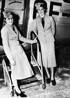 July 1938, Lucile Grant and Pat Ecclestone became Air Canada's first two air hostesses