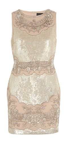 Champagne sequined dress