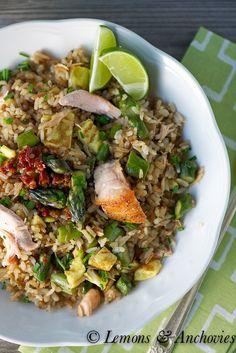Asparagus-Salmon Fried Rice | Lemons & Anchovies Blog