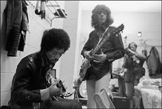 Jimi Hendrix & Mick Taylor, Backstage At Madison Square Garden, November 27th,1969