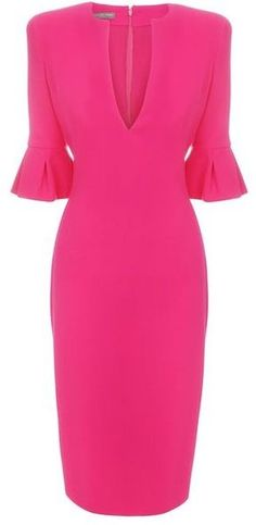 Tulip Sleeve Pencil Dress Dressy | Big Fashion Show pencil dress
