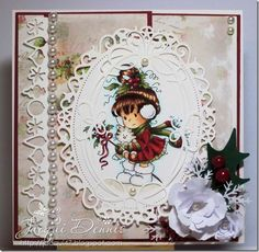 Joli cadre ! Homemade Christmas Cards, Homemade Cards, Handmade Christmas, Xmas Cards, Holiday Cards, Hobby House, Valentine's Cards For Kids, Scrapbooking, Whimsy Stamps