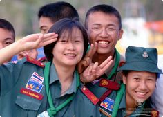 Rover Scouts from Thailand Cub Scouts, Girl Scouts, Gs World, Girl Scout Uniform, World Thinking Day, Cosmopolitan, Thailand, Children, Bangkok