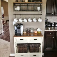 I would love to do a coffee bar in our new house!