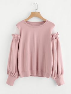 Shop Mesh Panel Frilled Sleeve Pullover online. SheIn offers Mesh Panel Frilled Sleeve Pullover & more to fit your fashionable needs.