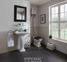 Radcliffe medium basin and pedestal. #imperialbathrooms #madeinengland #luxurybathroom
