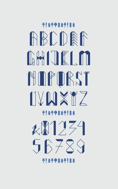fruits of forest typeface by Nina Gregier, via Behance