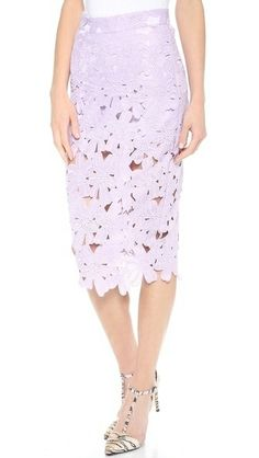 Midi skirt - This would be great in leather