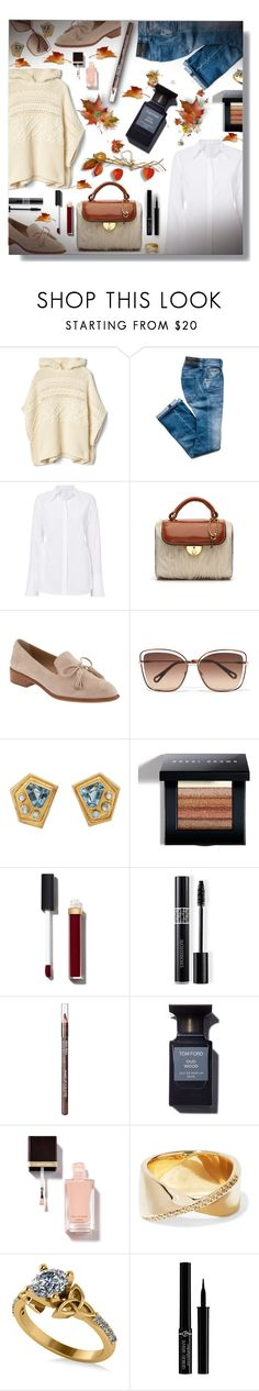 """""""Poncho!"""" by sarguo ❤ liked on Polyvore featuring A.L.C., Maison Margiela, Banana Republic, Chloé, Bobbi Brown Cosmetics, Chanel, Christian Dior, MAKE UP FOR EVER, Adina Reyter and Allurez"""