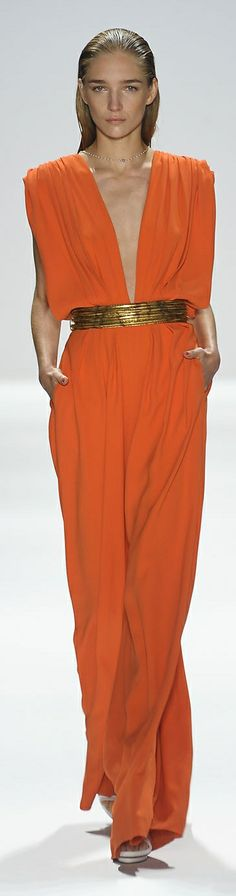 "Carlos Miele Spring 2012 ""And the LORD said to Moses, ""Go to the people and consecrate them today and tomorrow. Have them wash their clothes."" Exodus 19:10"