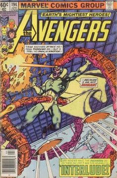 Avengers 194 April 1980 Issue Marvel Comics Grade by ViewObscura Comic Book Frames, Comic Books For Sale, Vintage Comic Books, Comic Book Covers, Vintage Comics, Marvel Comics, Marvel Comic Books, Marvel Characters, Comic Books Art