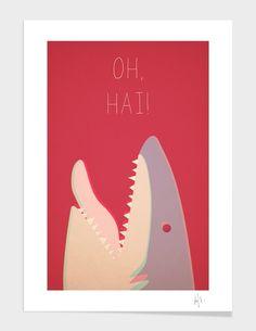 "Curioos.com | ""Sharky"" by Philip Skundric  - Gallery Quality Art Print"