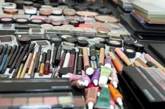 I spy some FABULOUS Senna Lip Lacquers in this shot! Product used for workshops at The Makeup Show LA.