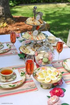 Picnic tea party for easter! Host your own simple Afternoon Tea party with this delicious High Tea menu featuring cucumber sandwiches and deviled eggs from Lia Griffith. High Tea Menu, High Tea Food, Afternoon Tea Parties, Afternoon Tea Recipes, Garden Tea Parties, Afternoon Tea Table Setting, Afternoon Tea Wedding, Snacks Für Party, Tea Party Foods