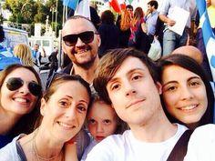Bandierone Tricolore piazza del popolo.