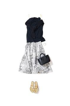 Kyoko Kikuchi's Closet #kk-closet 柔らかく、優しいムードで着るモノトーン