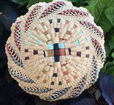 Ornamental Corn by Twisted Spokes : Handwoven Basket, Twined Basket, Waxed Linen Basket Weaving, Hand Weaving, Basket Willow, Linen Baskets, Twine, Straw Bag, Wax, Aqua, Ornaments