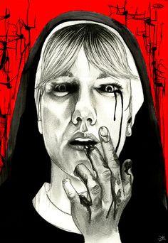 """""""Purity Devoured"""" illustration by Mikhail Dingle  - AHS Asylum - Sister Mary Eunice"""