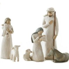 6-Piece set, tallest figurine is 9.5-Inch Behold the awe and wonder of the christmas story Dust with soft cloth or soft brush. avoid water or cleaning solvents