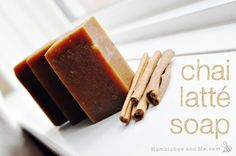 Chai Latte Soap | Natural Skincare by Pioneer Settler at http://pioneersettler.com/homemade-soap-making-recipes/