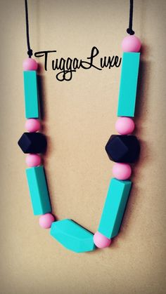 London / Teething Necklace/ Modern Style / Silicone Beads / Mom / Mothers Day / Baby Shower Gift / Nursing Necklace / Stylish / Fashion by TuggaLuxe on Etsy