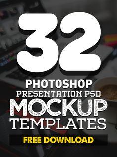 Free PSD Mockup Templates (32 Fresh Mock-ups) #freepsdfiles #freebies #freepsdmockup #psdmockup #mockuptemplate #freedownload