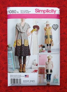 Simplicity Sewing Pattern 1080 Tunic Top by AlicesSewingCorner