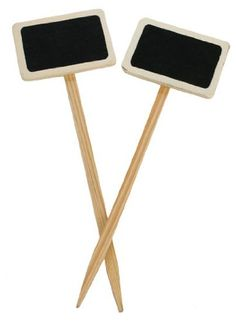 """Mini Wood Chalkboard Stakes for Garden Markers - 24 Chalkboard Stakes (12 Pkgs of 2 Chalkboards) - Size: 2-3/4"""" wide x 8-1/2"""" tall Rustic Accents http://www.amazon.com/dp/B005PZLZB8/ref=cm_sw_r_pi_dp_hvVUtb0FVX64H424"""