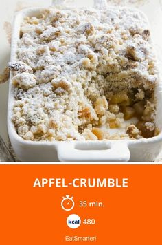 Apfel-Crumble - smarter - Kalorien: 480 Kcal - Zeit: 35 Min.   eatsmarter.de