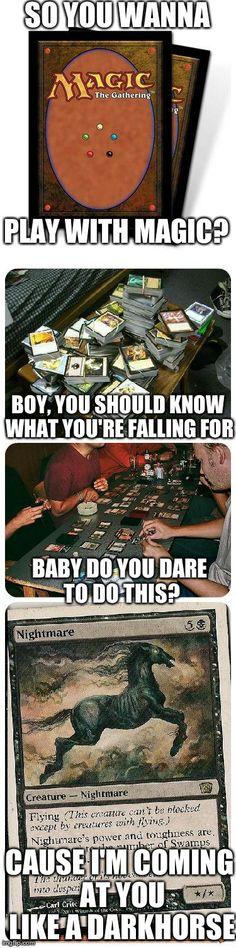 So you wanna play with magic? #magicthegathering #katyperry #darkhorse #geek #nerd