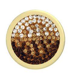 Mi Moneda Medium Gold Plated Brown Diamond Style Coin from Michael Jones Jeweller