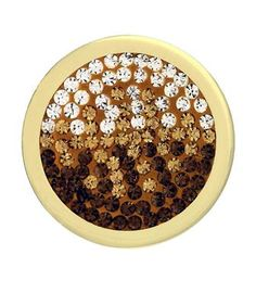 Mi Moneda Medium Gold Plated Brown Diamond Style Coin from Michael Jones Jeweller
