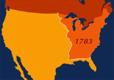 Map animation that redraws the borders of the US from the 1700s to the present.